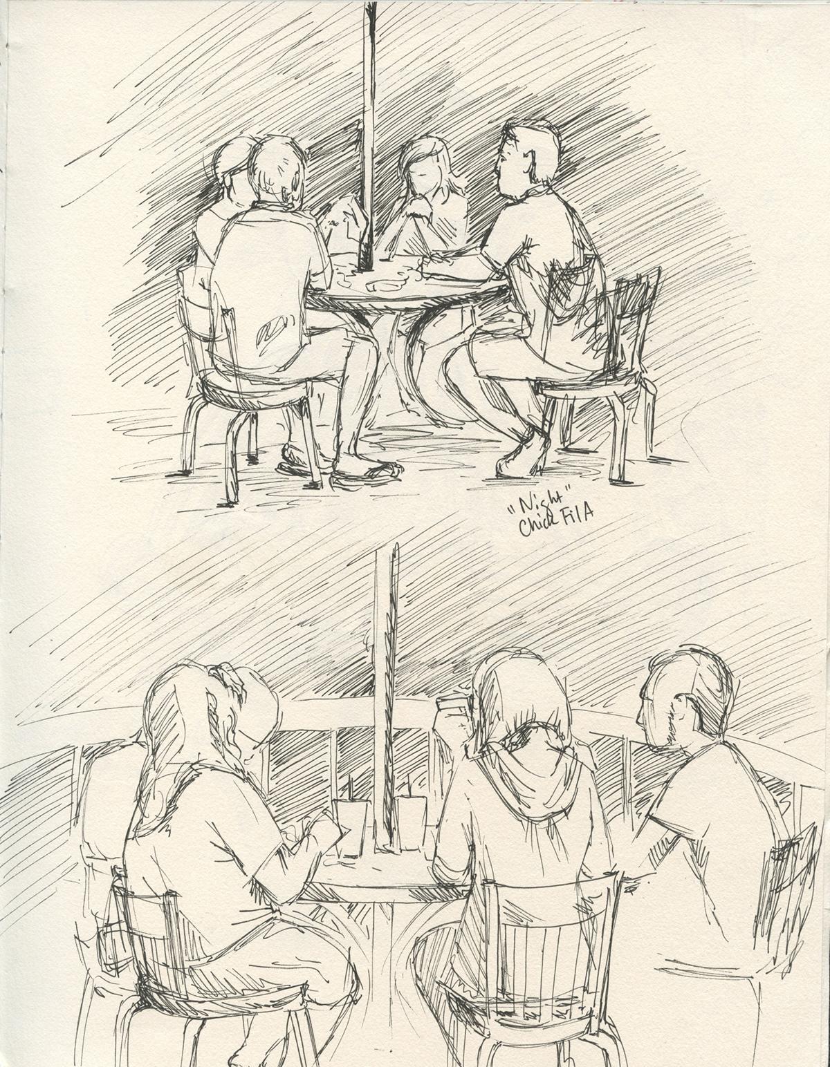 people dinner Landscape