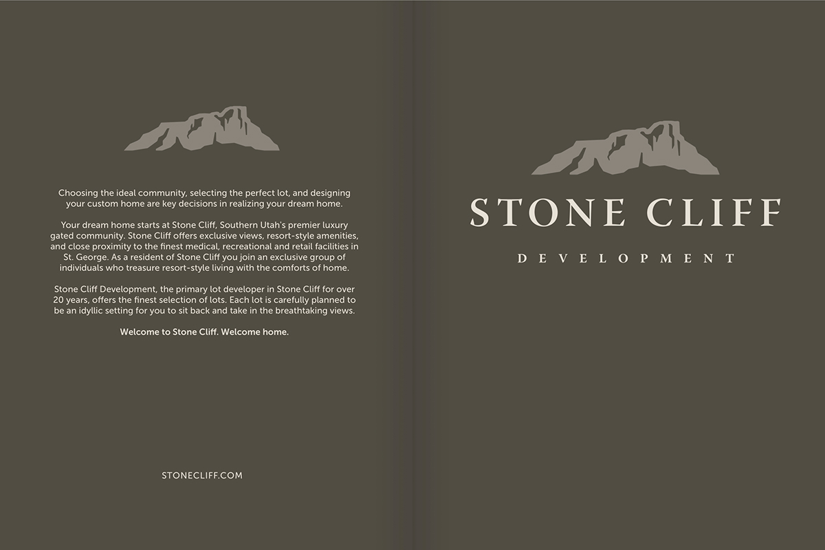 parade of homes luxury homes stone cliff stgeorgeut saint george utah Print Marketing layouts Folders Business Cards