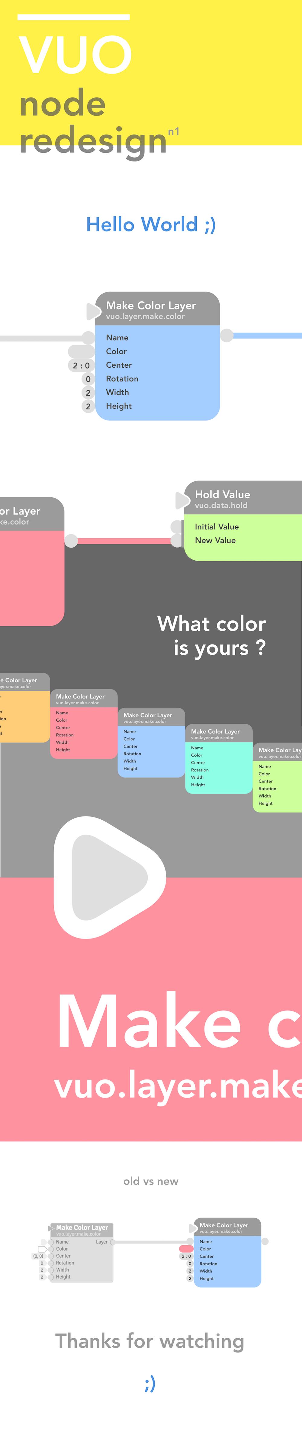 Vuo node UI flat color visual