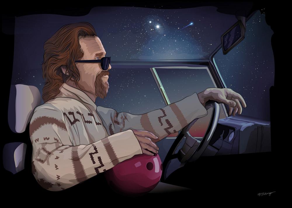 Movies vector artwork drawings Illustrator stars movie kill bill big lebowsky comic