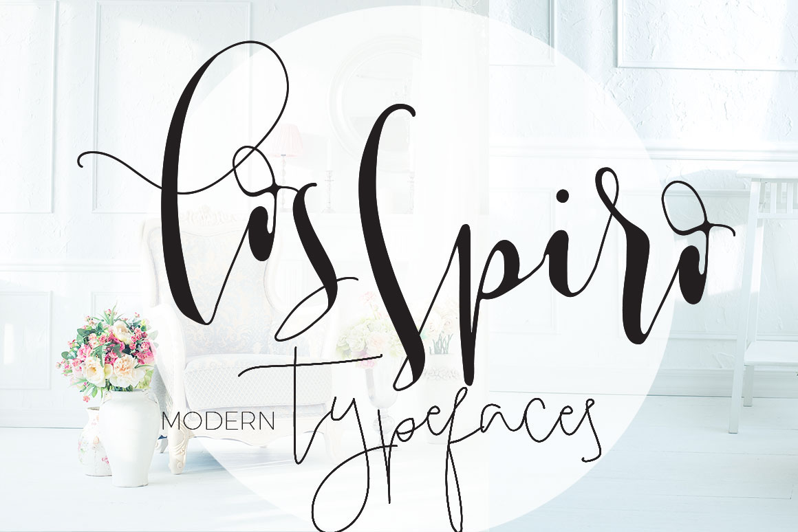 Introducing Los Spiro Modern Minimalist And Bold Calligraphy Font