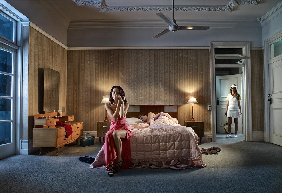 art Erik williamson Australia girl motel tennis