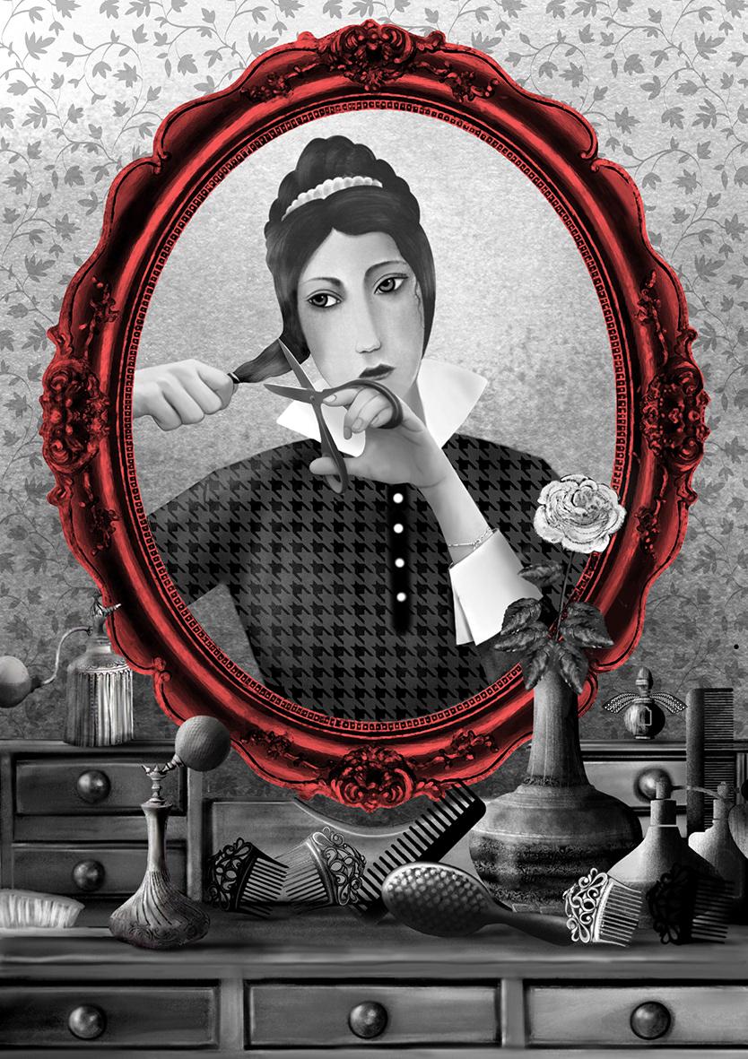 Adobe Photoshop black and white book design book illustration classic literature graphic design  ILLUSTRATION  painting   watercolor