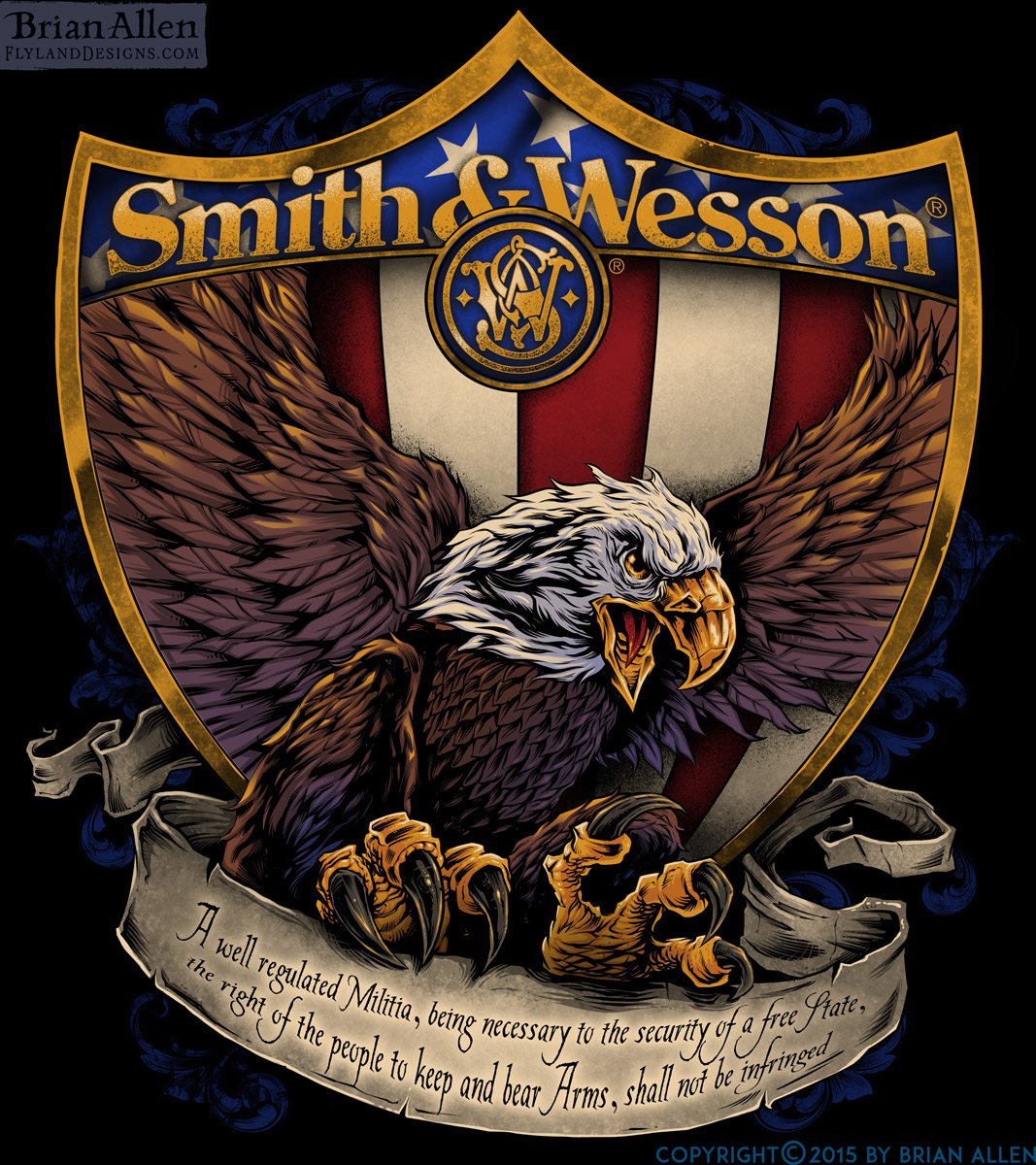 Smith & Wesson Eagle T-Shirt Design 2 On Behance