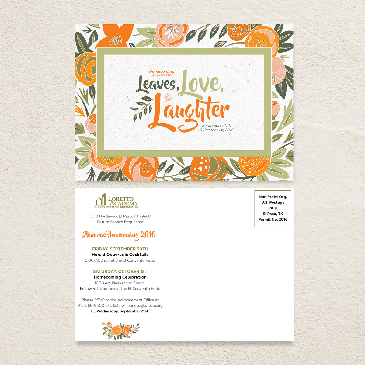 Loretto Fall Invitation On Behance