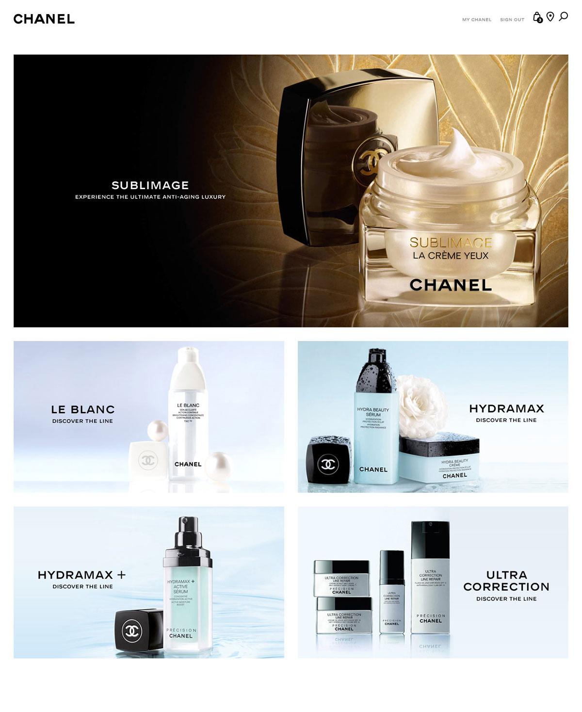 chanel beauty Luxury Fashion luxury Ecommerce Website