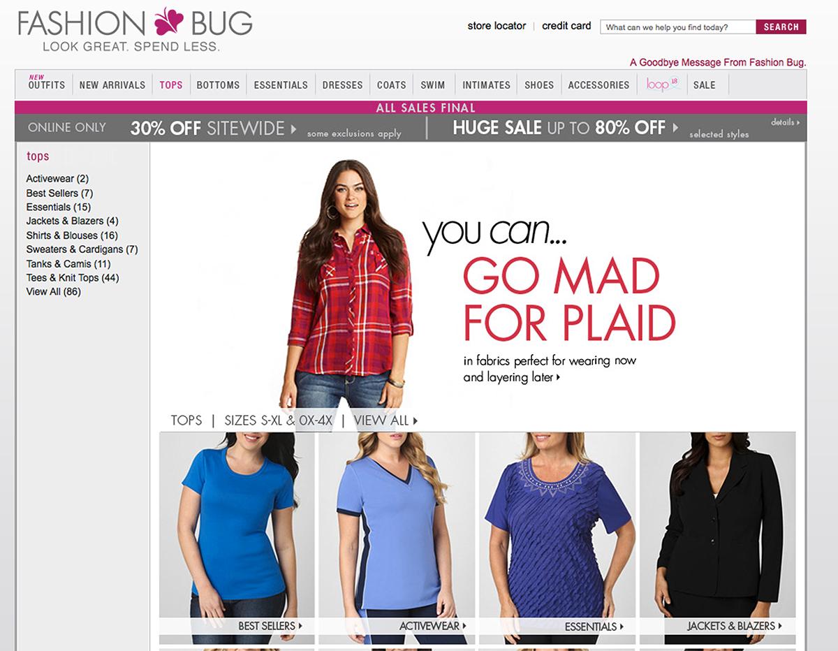 Is fashion bug closing 20