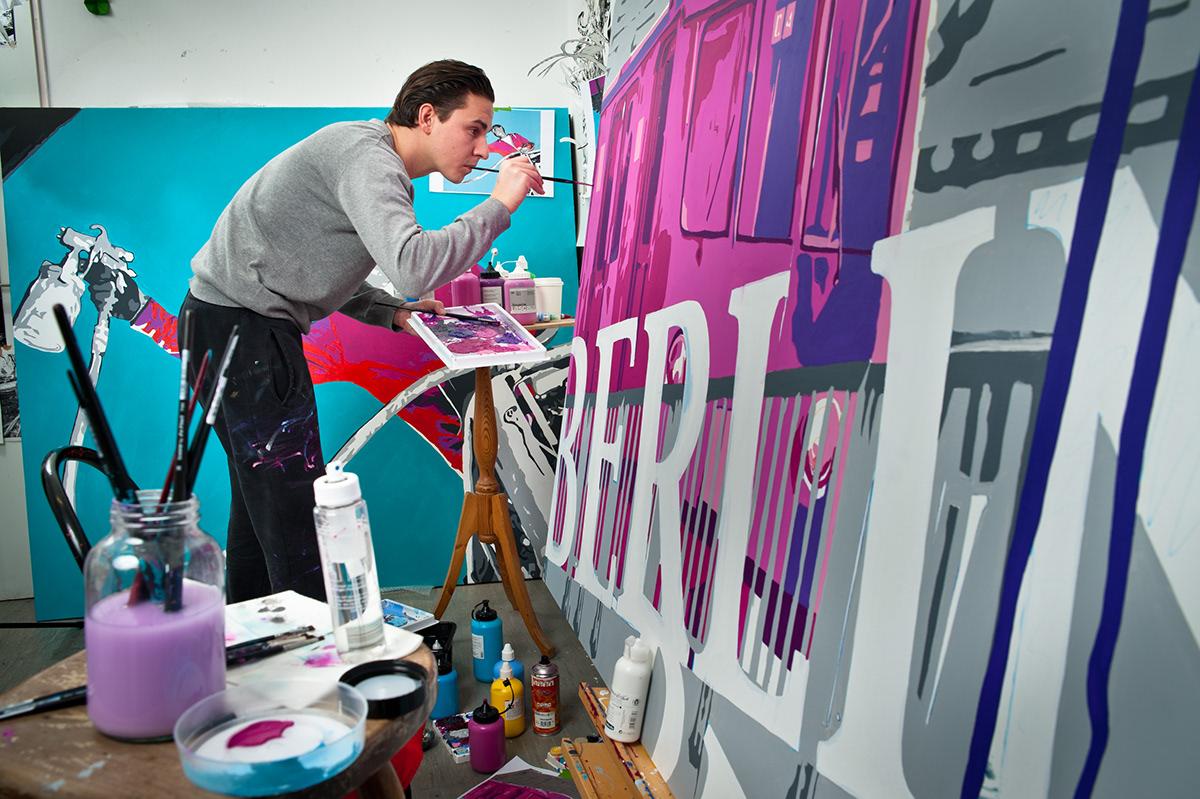 artist atelier oliver kray canvas Pop Art graffiti art