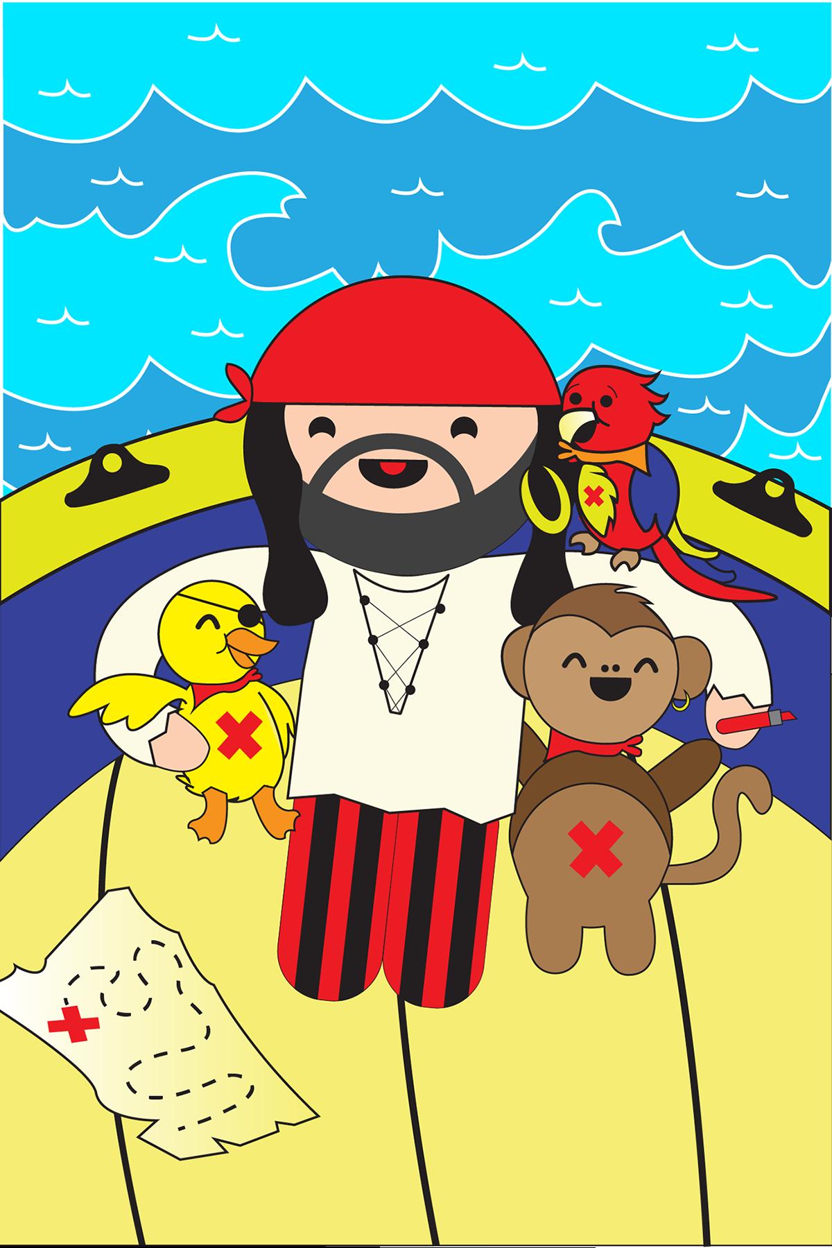 TFO boukili children books kids illustration kids children books book story time Stories pirate friendship