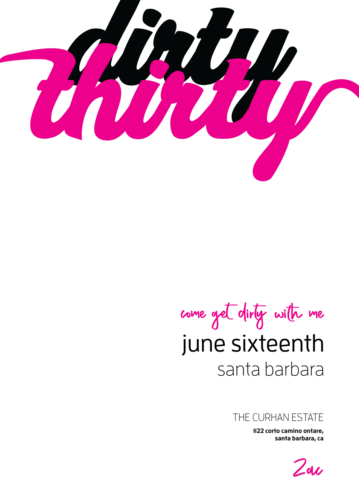 Dirty Thirty Birthday Invite On Behance