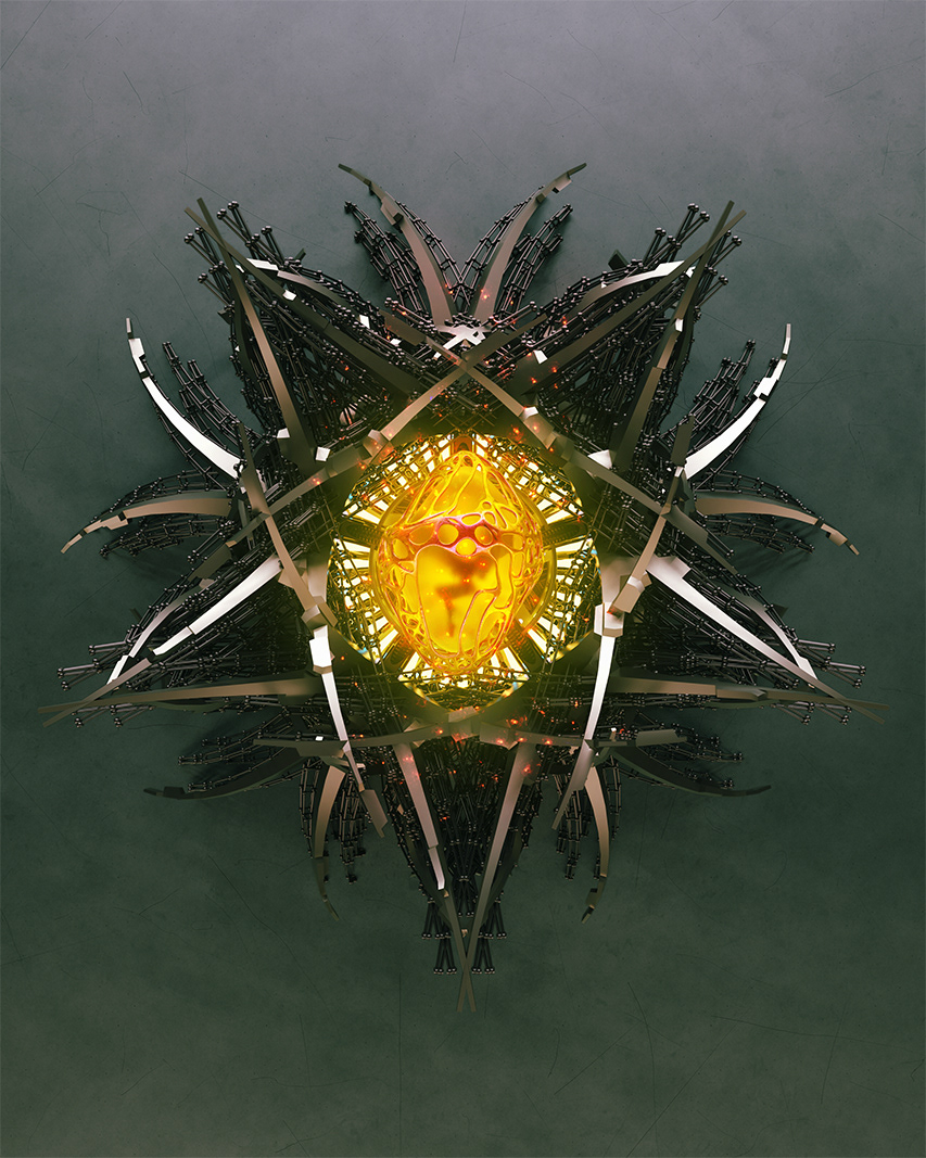 artworks illustrations Digital Art  3D concept art Matte Painting photomanipulation yellow aurora painting