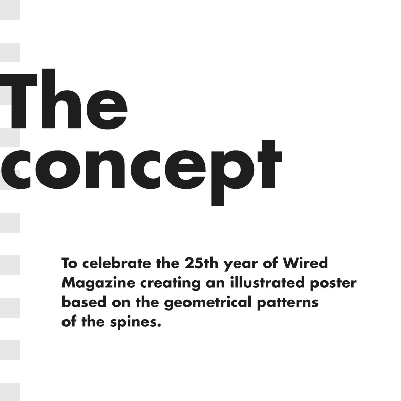 25 Years of Wired - Poster on Behance