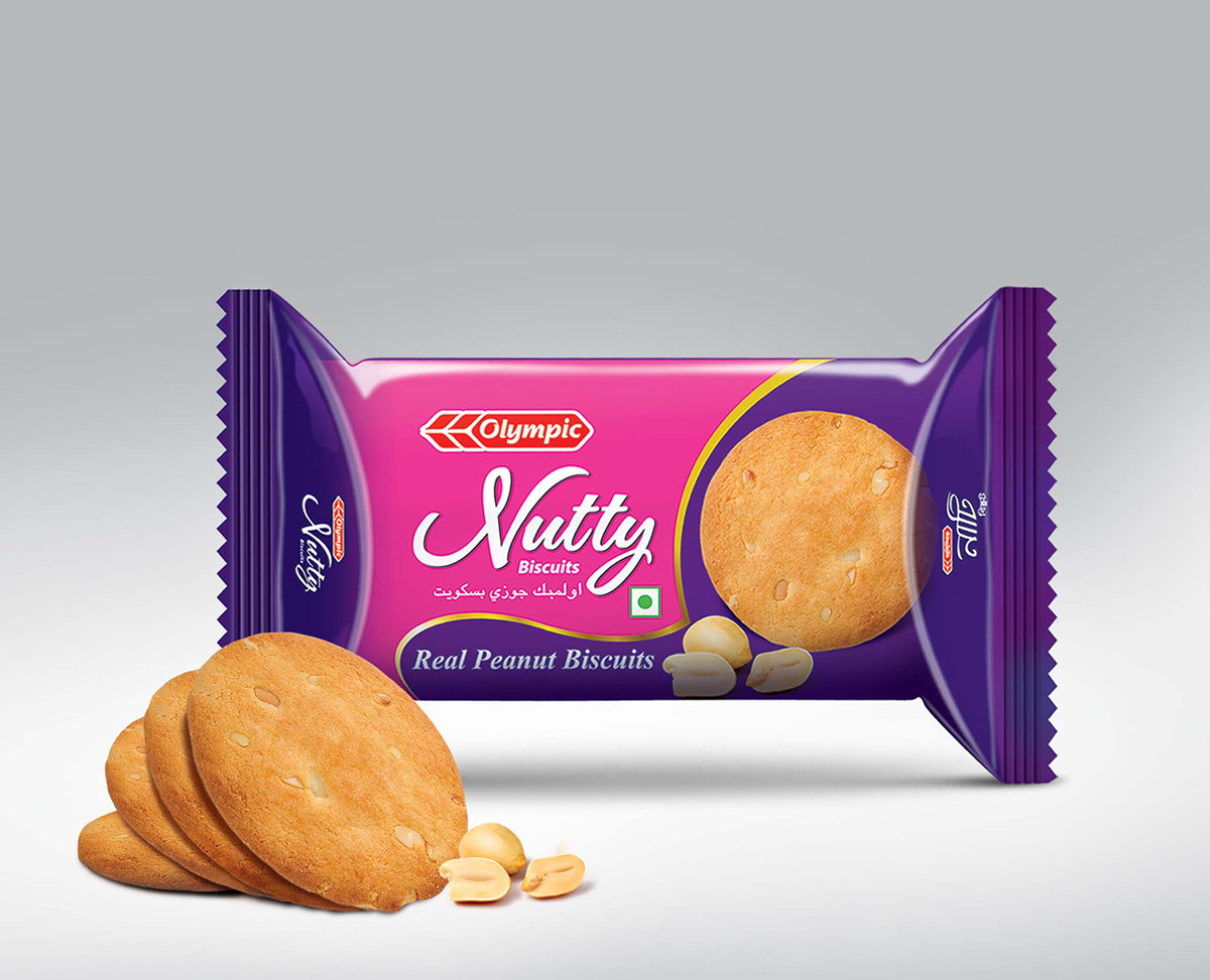 Biscuits Packaging on House Brochure Design