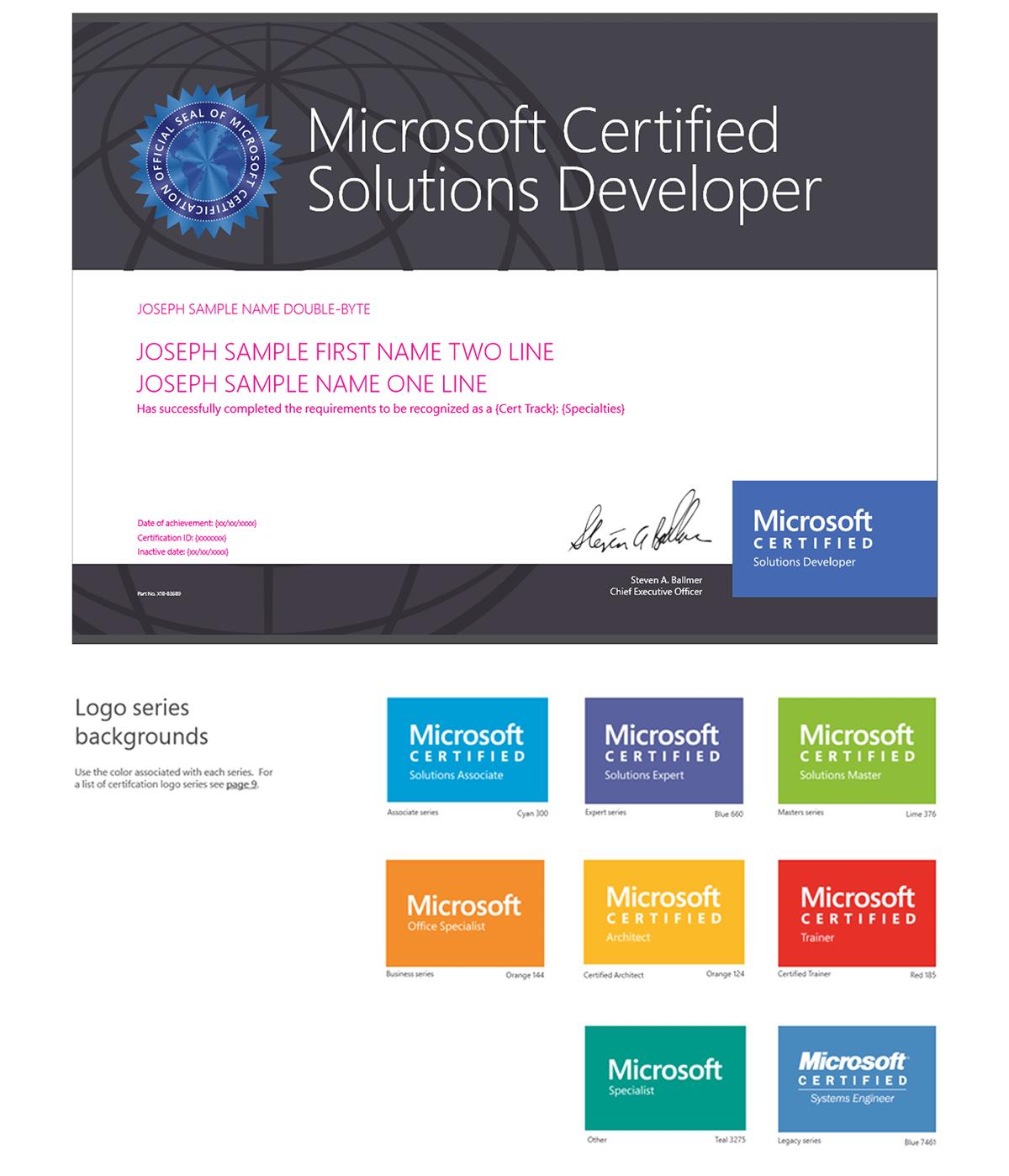 Microsoft Certification Program On Behance