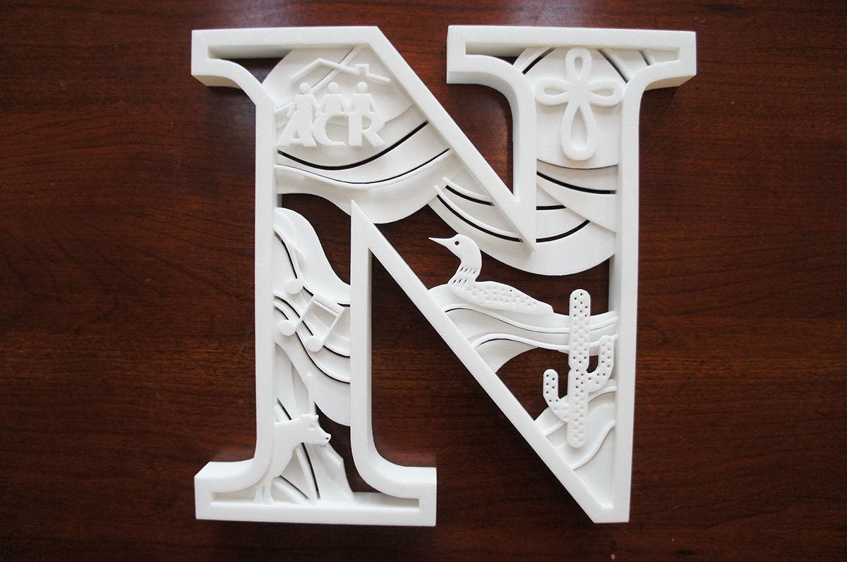 "This was a present for my Grandparents, Jim and Dorothy Nelson (hence the letter ""N"") for their 50th Wedding Anniversary. The various designs inside the ""N"" ..."