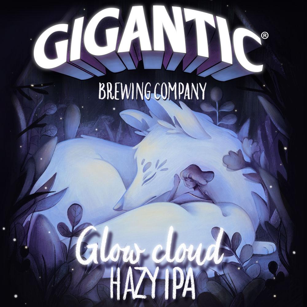 glow cloud label art on behance