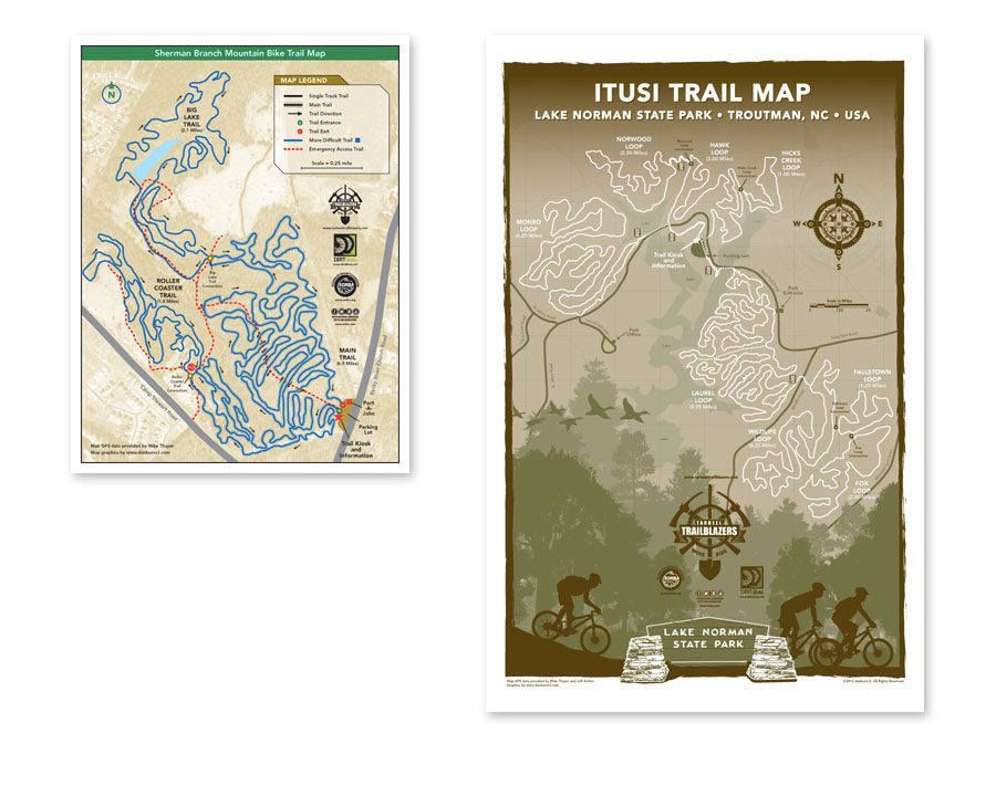 map Charlotte north carolina Tarheel Trailblazers Graphic Design Illustration