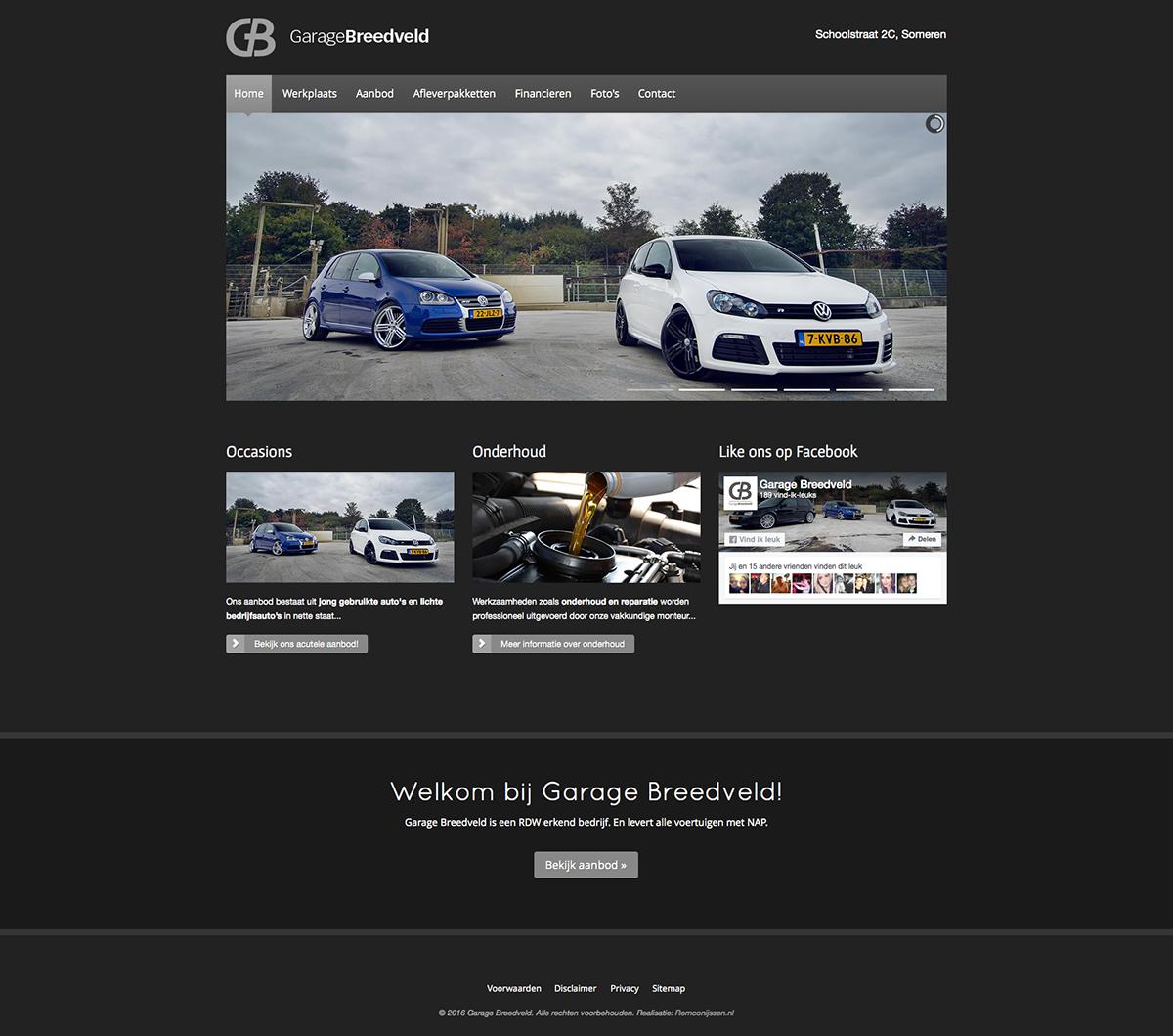 Website Garage Breedveld On Behance