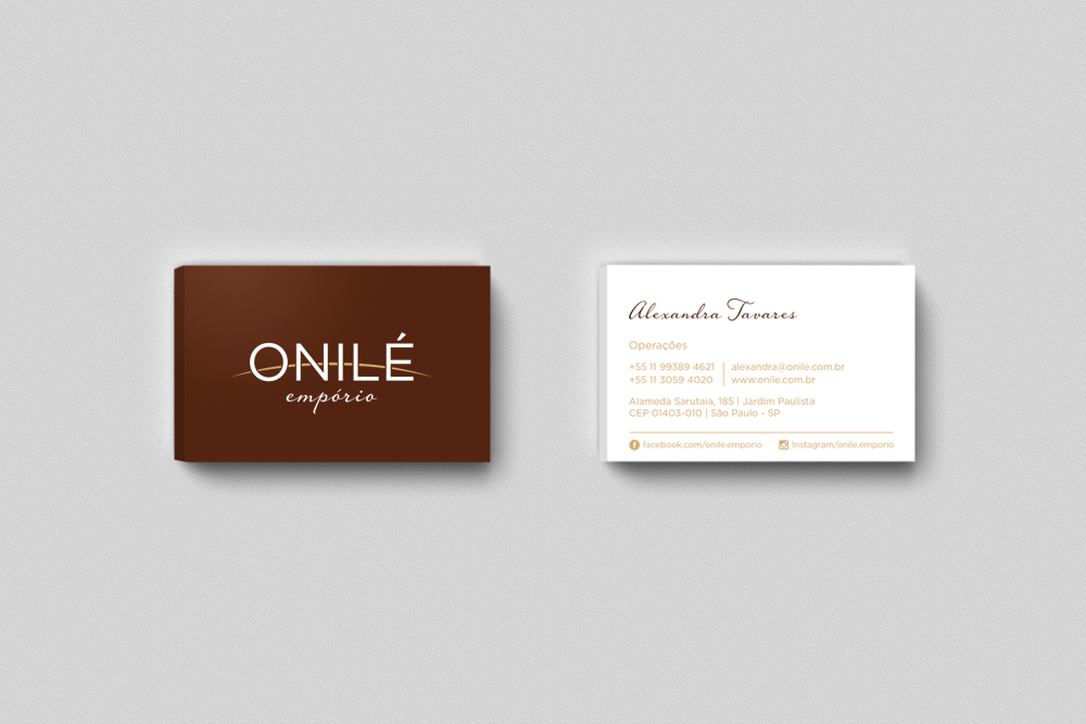 Onilé gourmet logo identidade visual Emporio premium