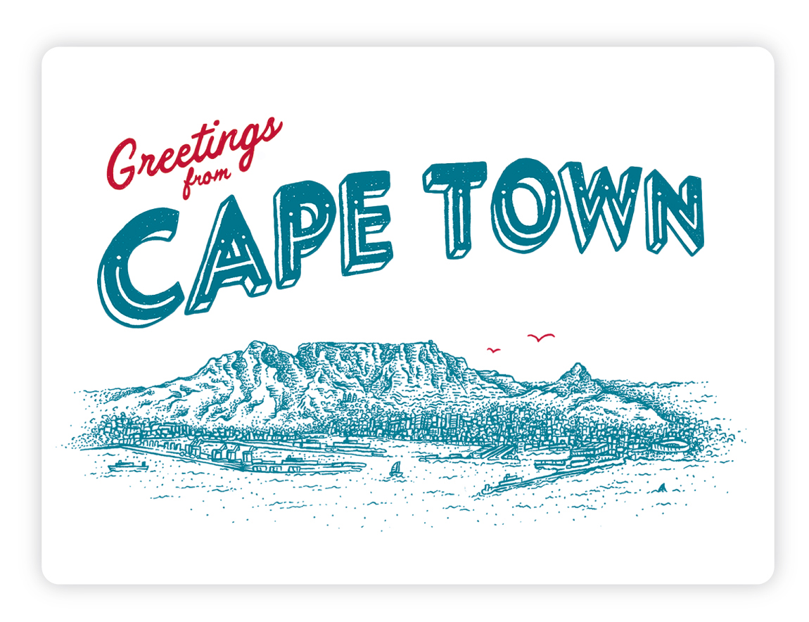 Post Cards South Africa Inspired On Behance