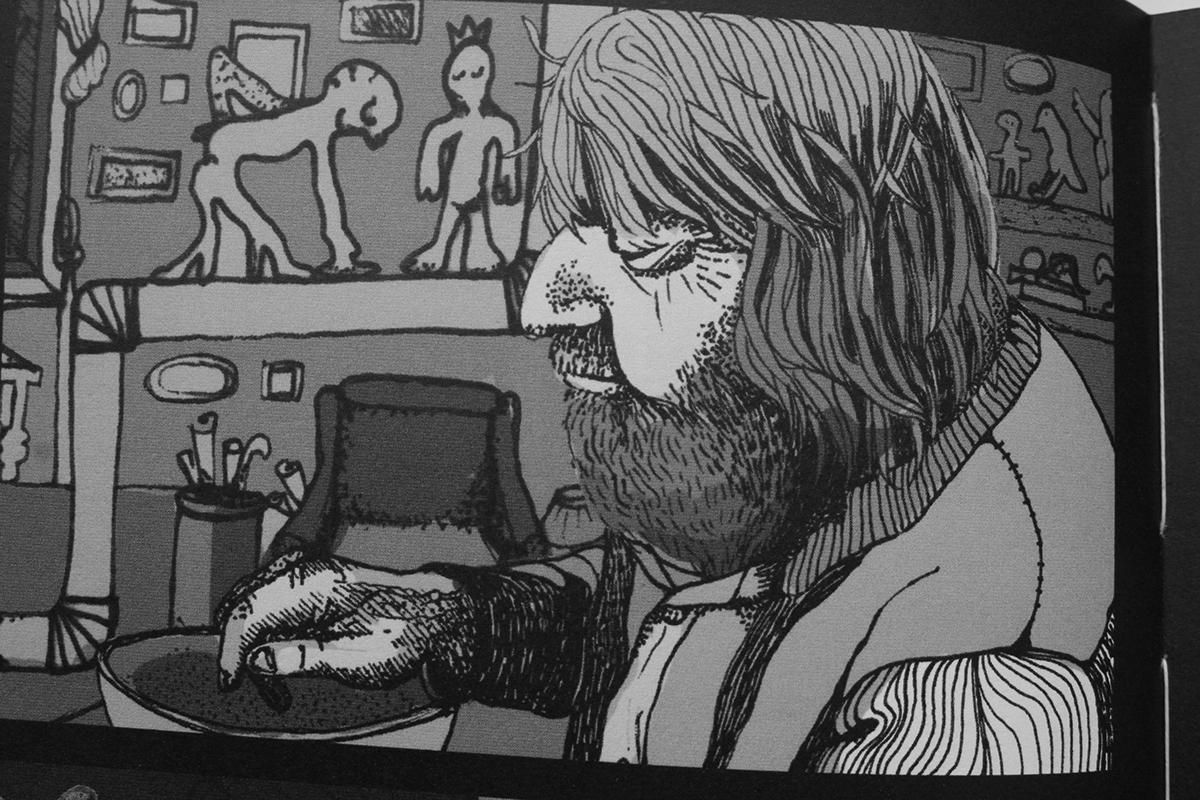raven Loamraven BinaWirth HfKBremen Diplomarbeit comic graphicnovel timetraveling dark drama Sadness depression bird girl forest