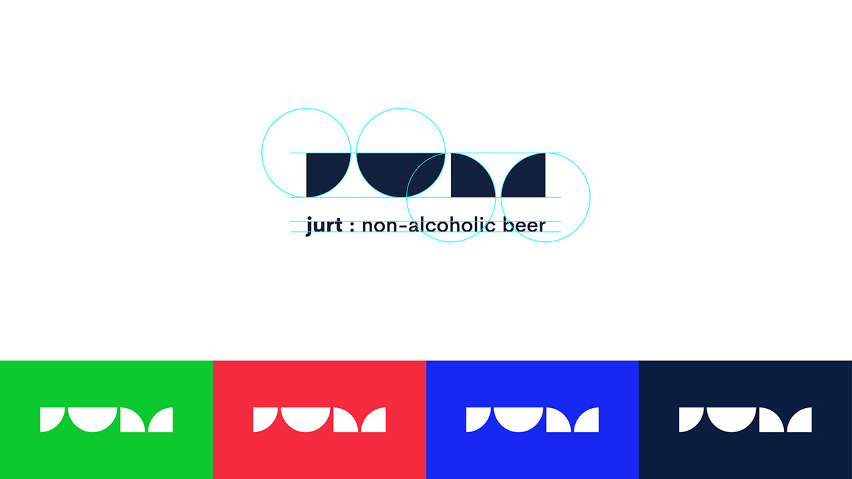 beer non-alcoholic package flower Herb colorful branding  geometric Advertising  Website