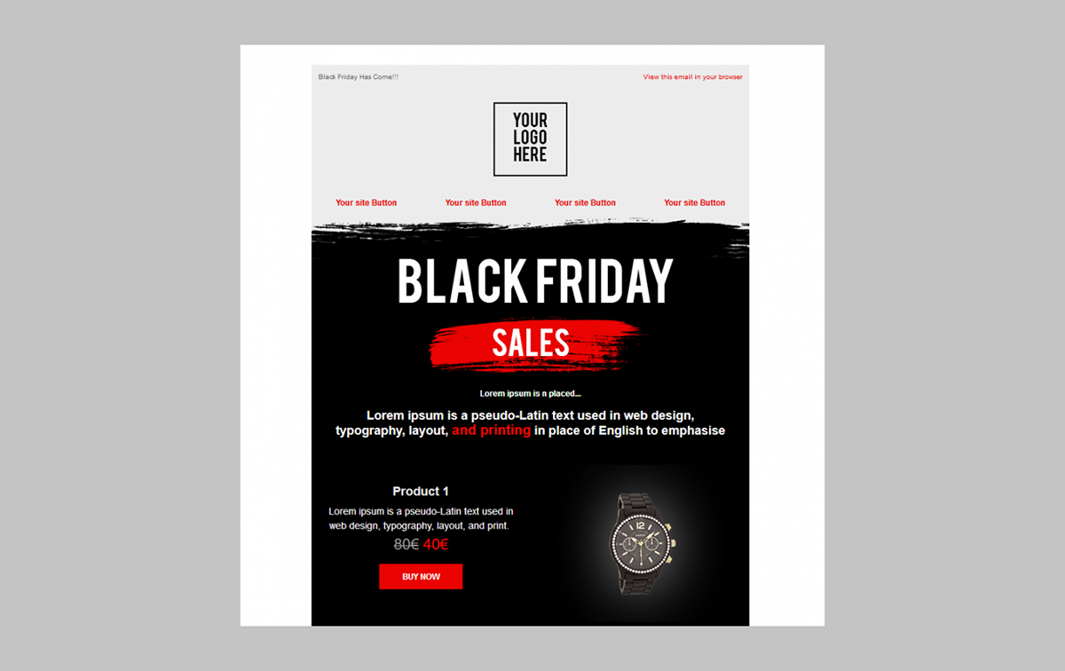 Black Friday Newsletter Templates For Contactpigeon On Wacom Gallery