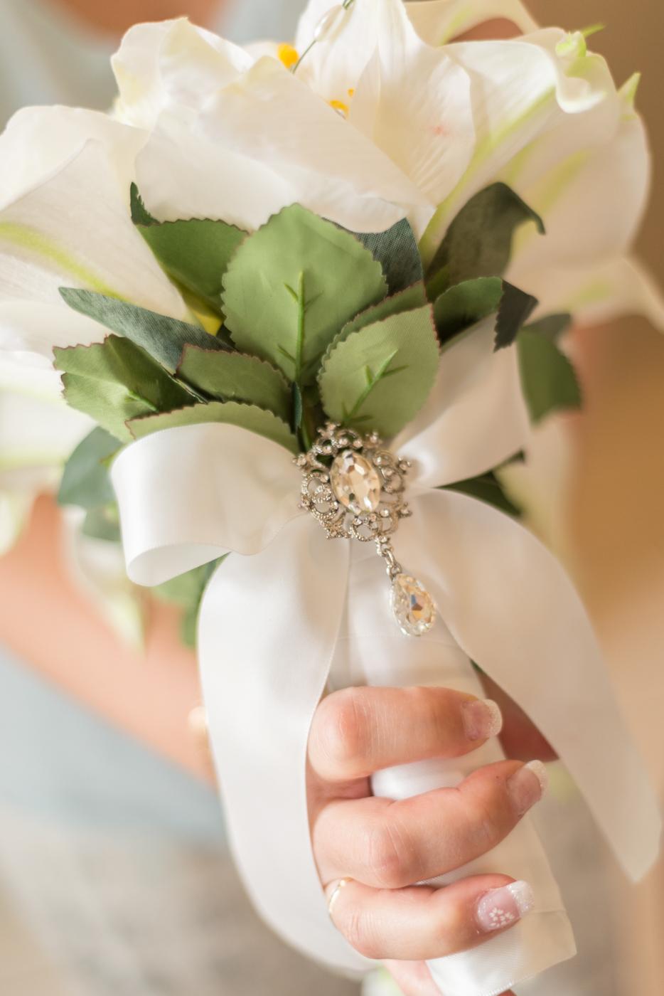 mariage wedding portrait black and white flower