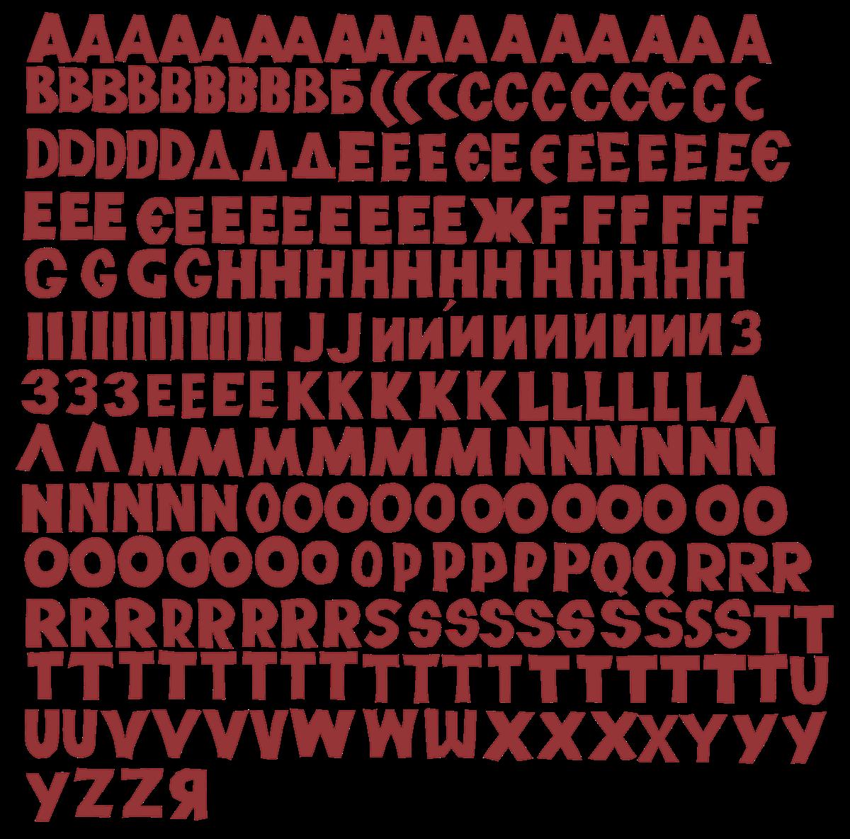 animation  font lettering Website