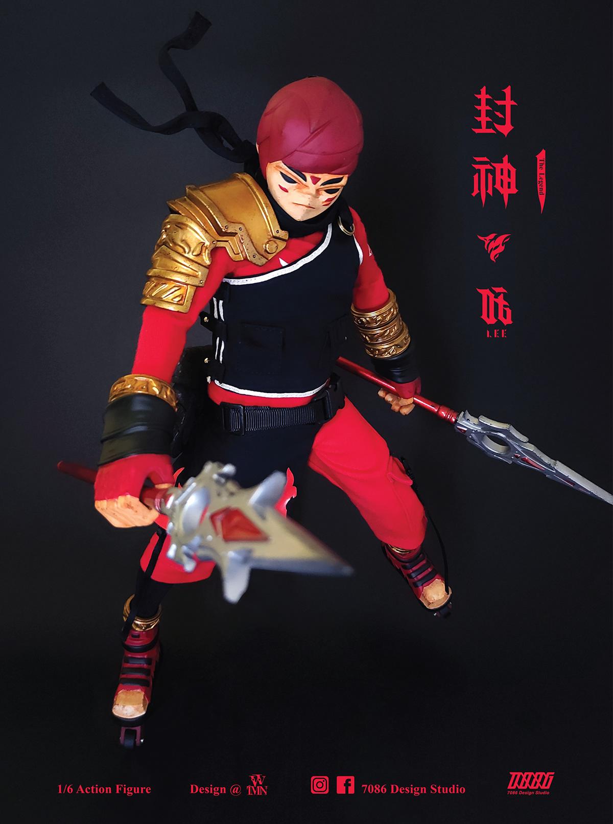 1/6 action figure 3D model Action Figure Character design  ILLUSTRATION  one sixth scale figure sculpture the legend toy toys design