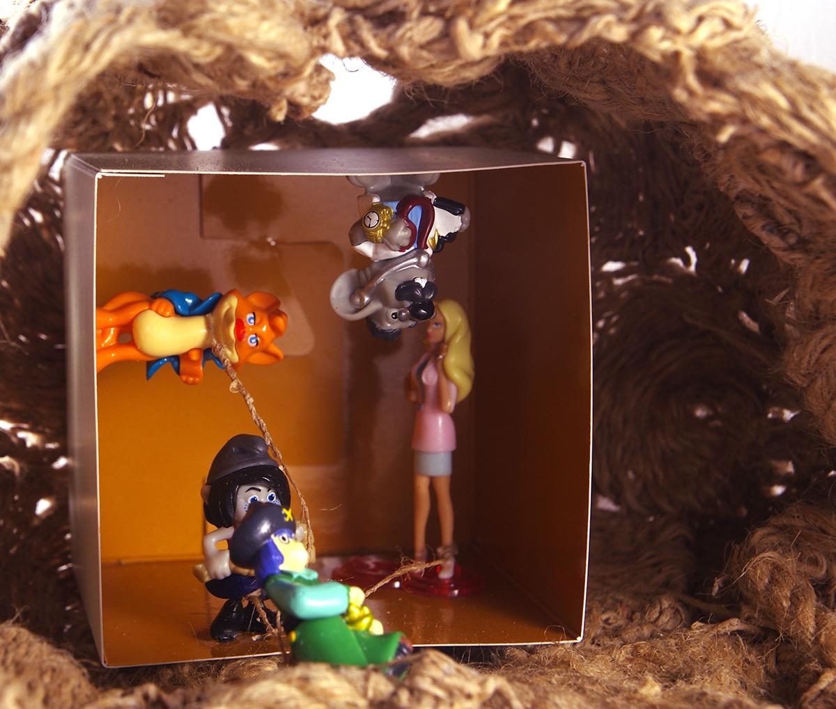 box world Thinking rope ready-made Miniature textile art arka gallery