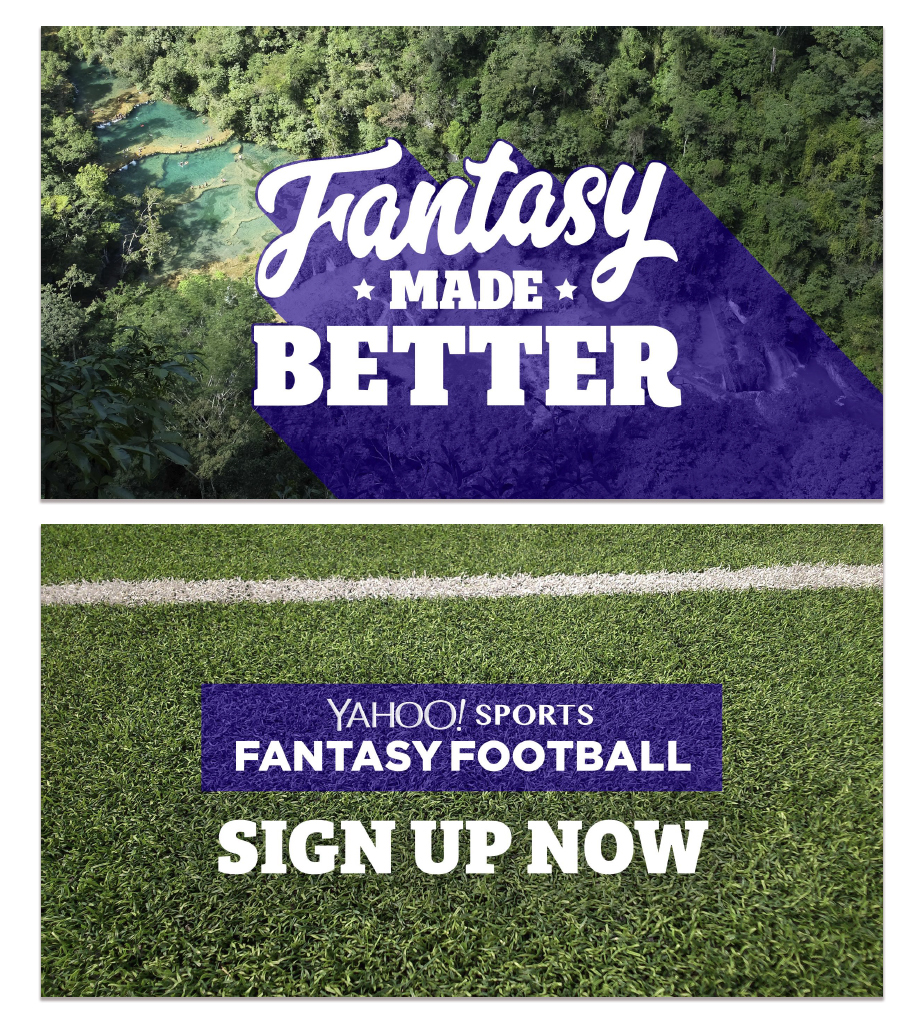 Yahoo! Fantasy Football  Type Design  on Behance