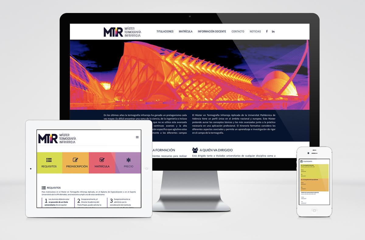 MTIR UPV valencia termografia Ingrarroja Master Web