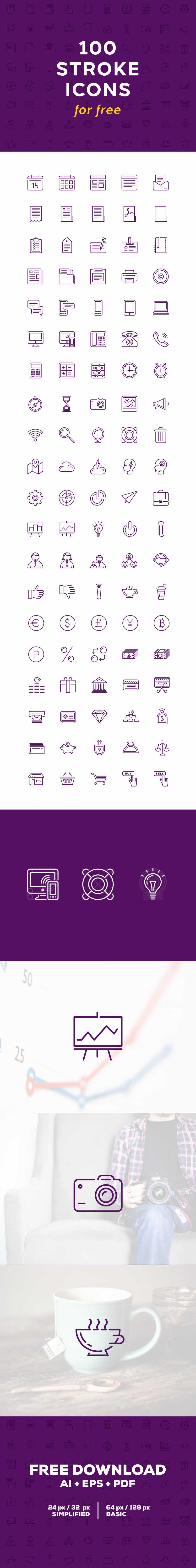 Icon icons iconset flat stroke icons line icons stroke vector free ai free icons freebie download