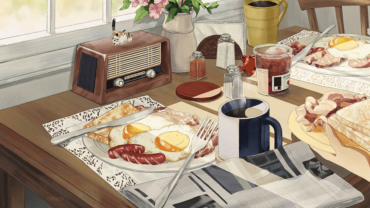 breakfast life backgrounds