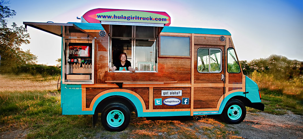 Hula Girl, Hawaiian Food Truck Design, Restaurant Branding, Washington, DC