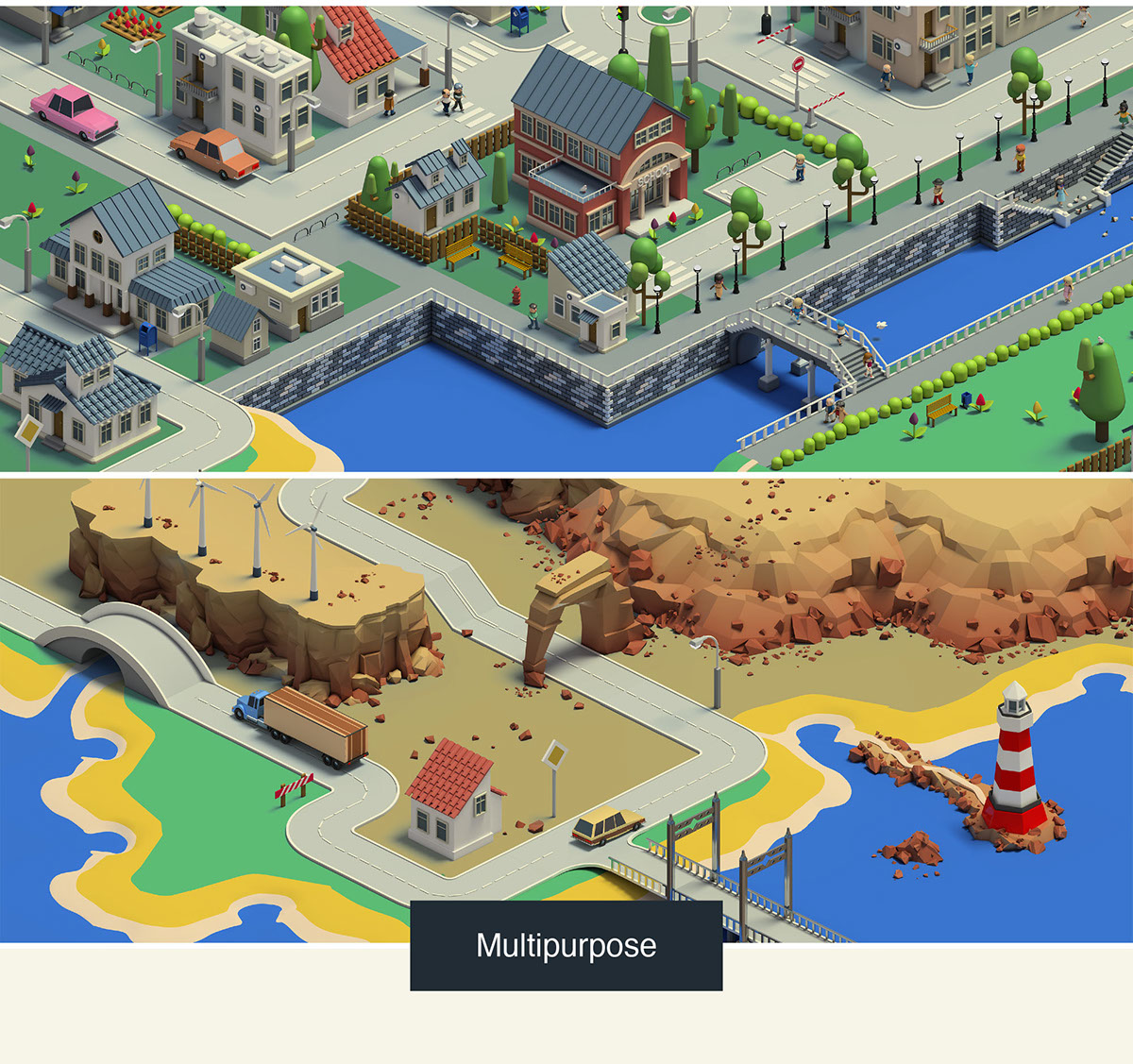 isometric 3d map builder