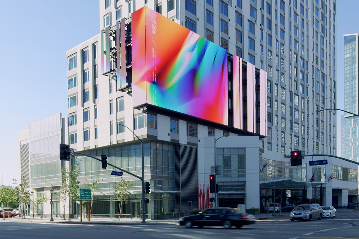 chroma chromatic light glass installation video art projection gradient color