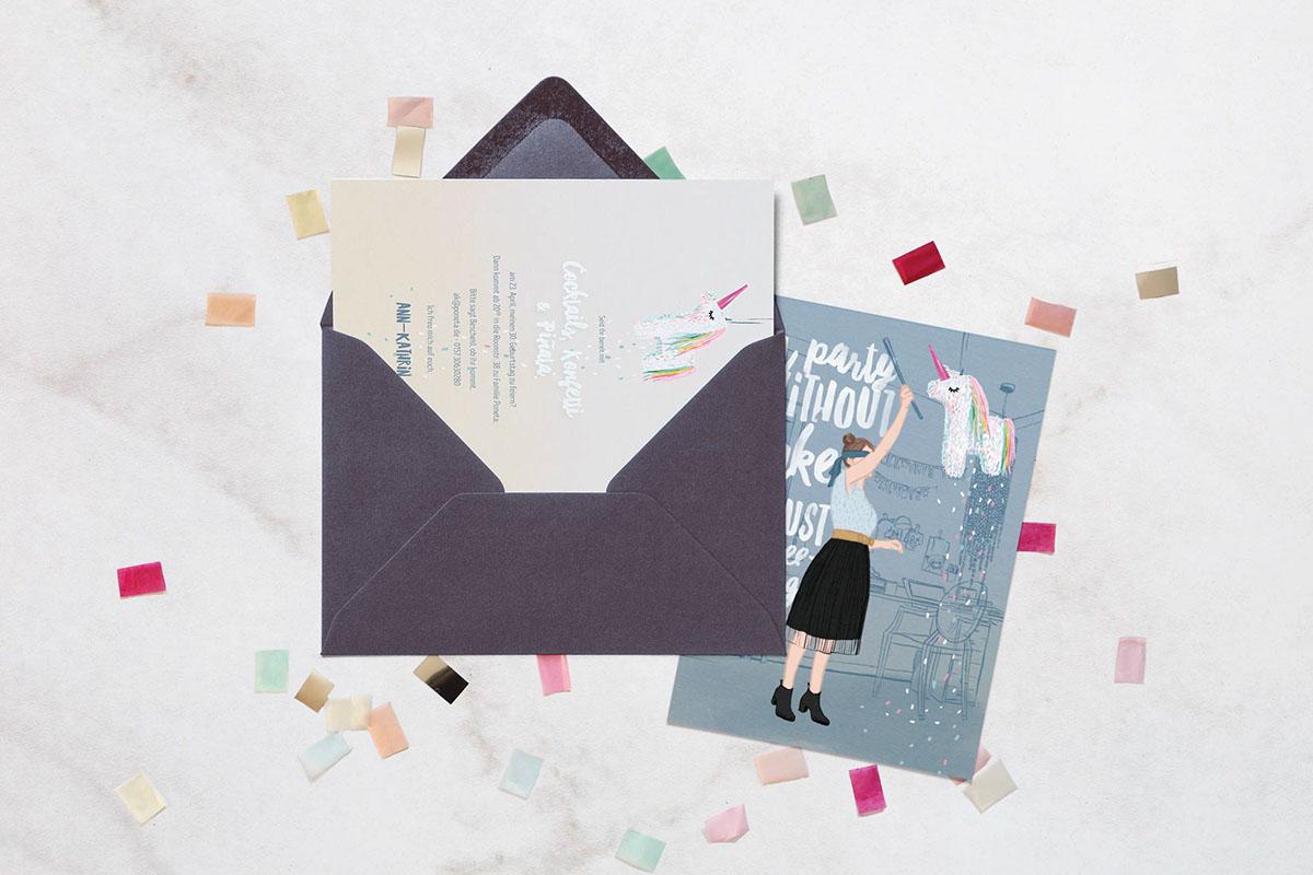 birthday invitation on Behance