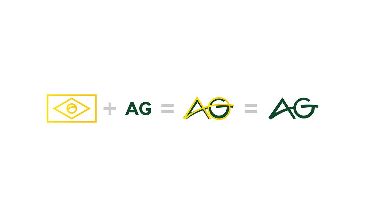 Explicação visual do desenvolvimento do logo. Brand Explanation. 21db042b4d