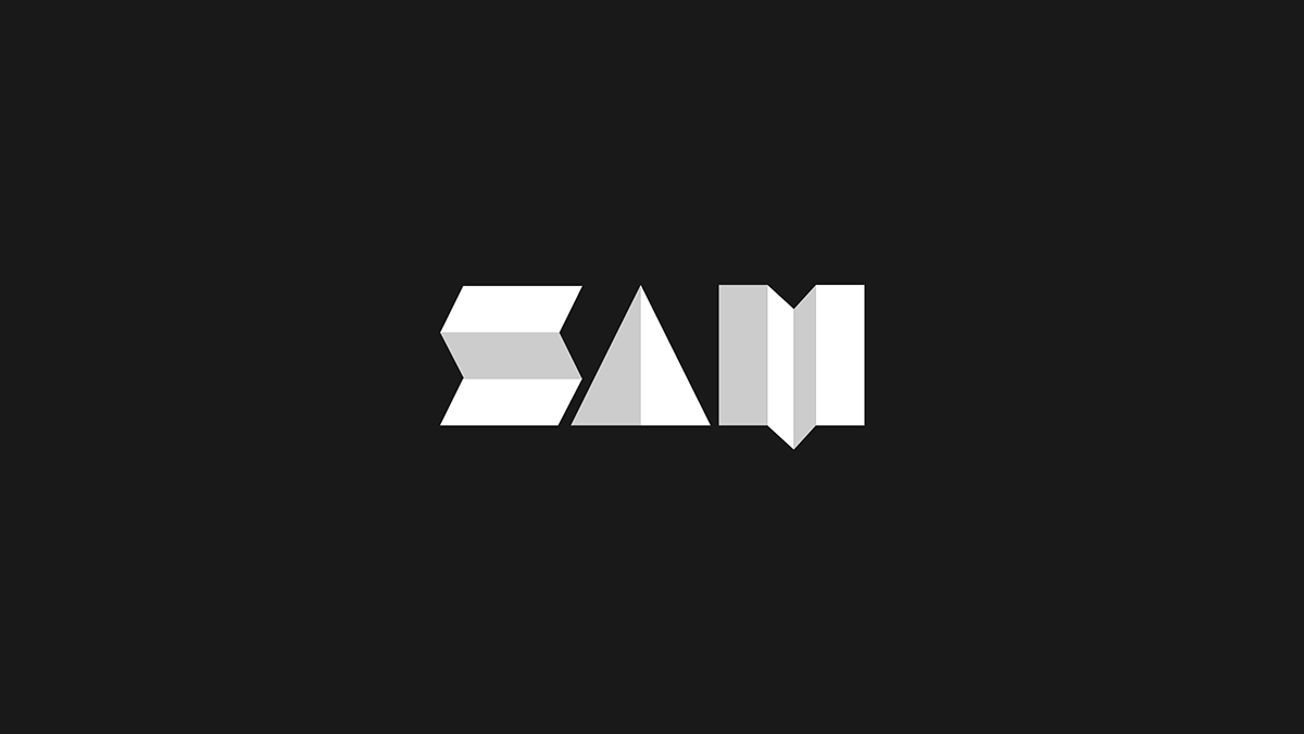 Abstract Sam Logo Brand Identity Design On Student Show