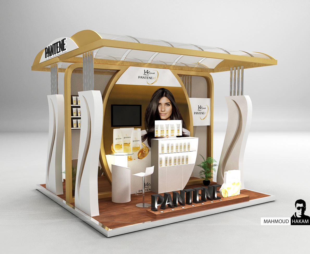 Exhibition Stall Design 3x3 : Pantene booth on behance
