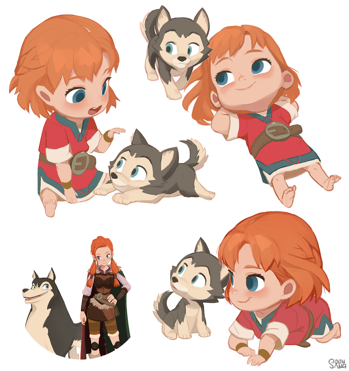 Cartoon Characters Design : Adventures of kayla quot loto s infancy on behance