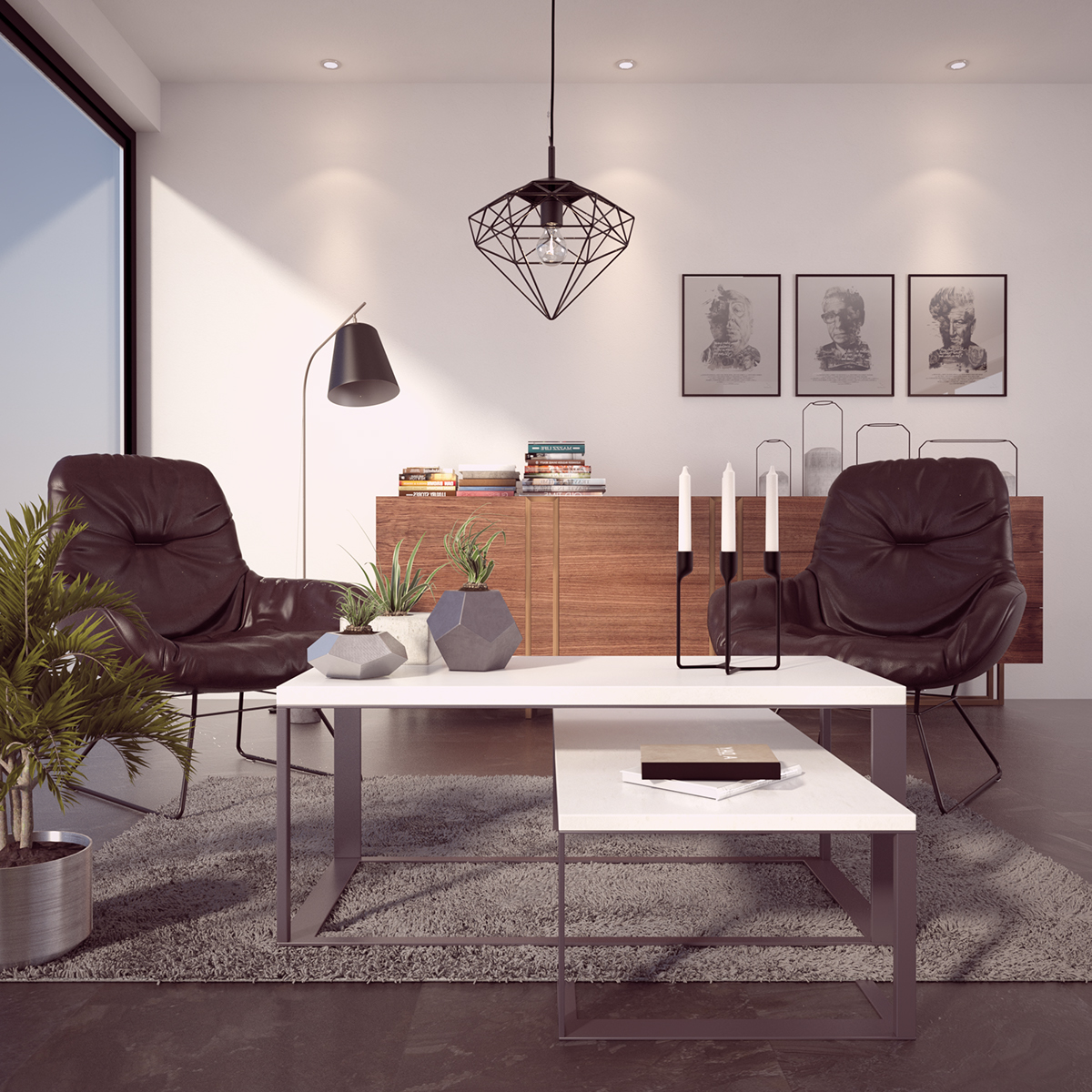 Free 3d model interior vray 3ds max on behance - Model designer interiors ...