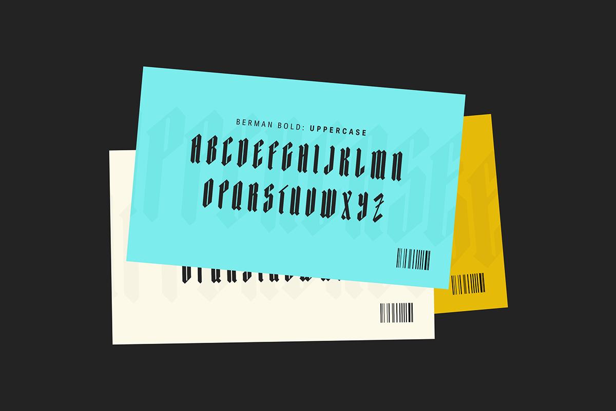 Berman Bold | Blackletter Typeface on Behance