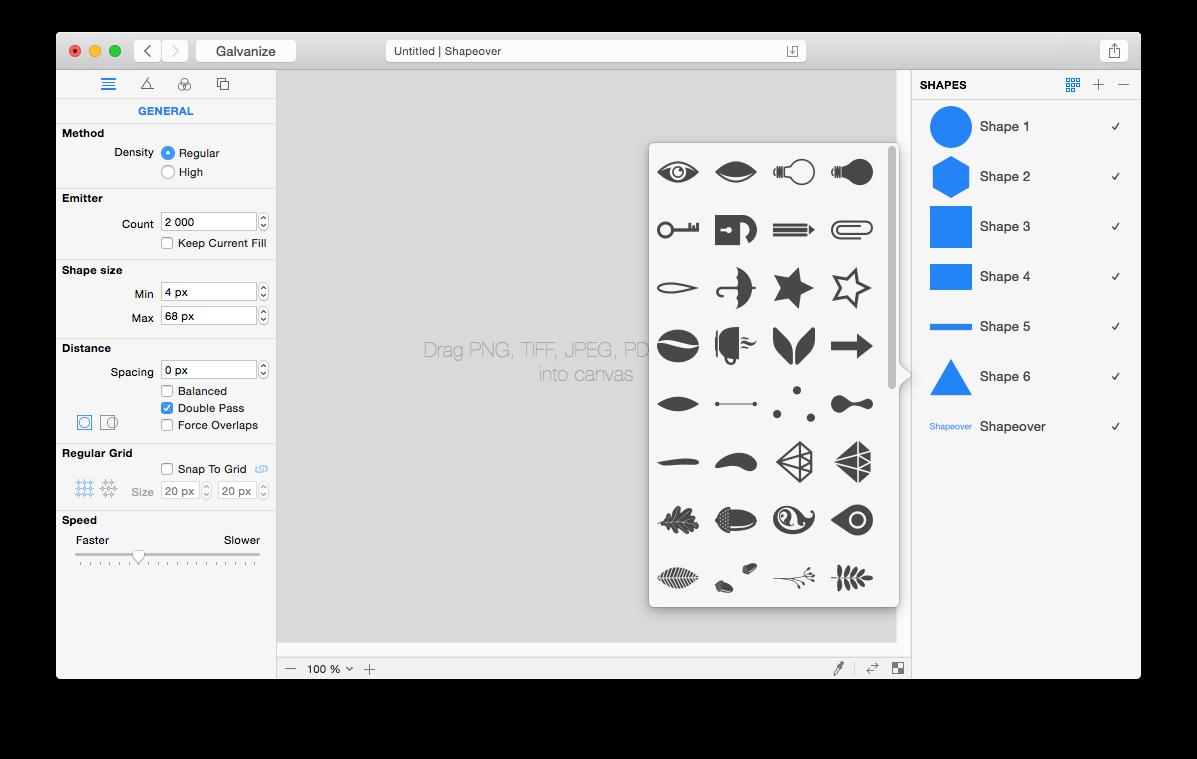 Shapeover ShapeoverArt art design VectorField app LogicLeopard ImageStudioProduction galvanize Interface