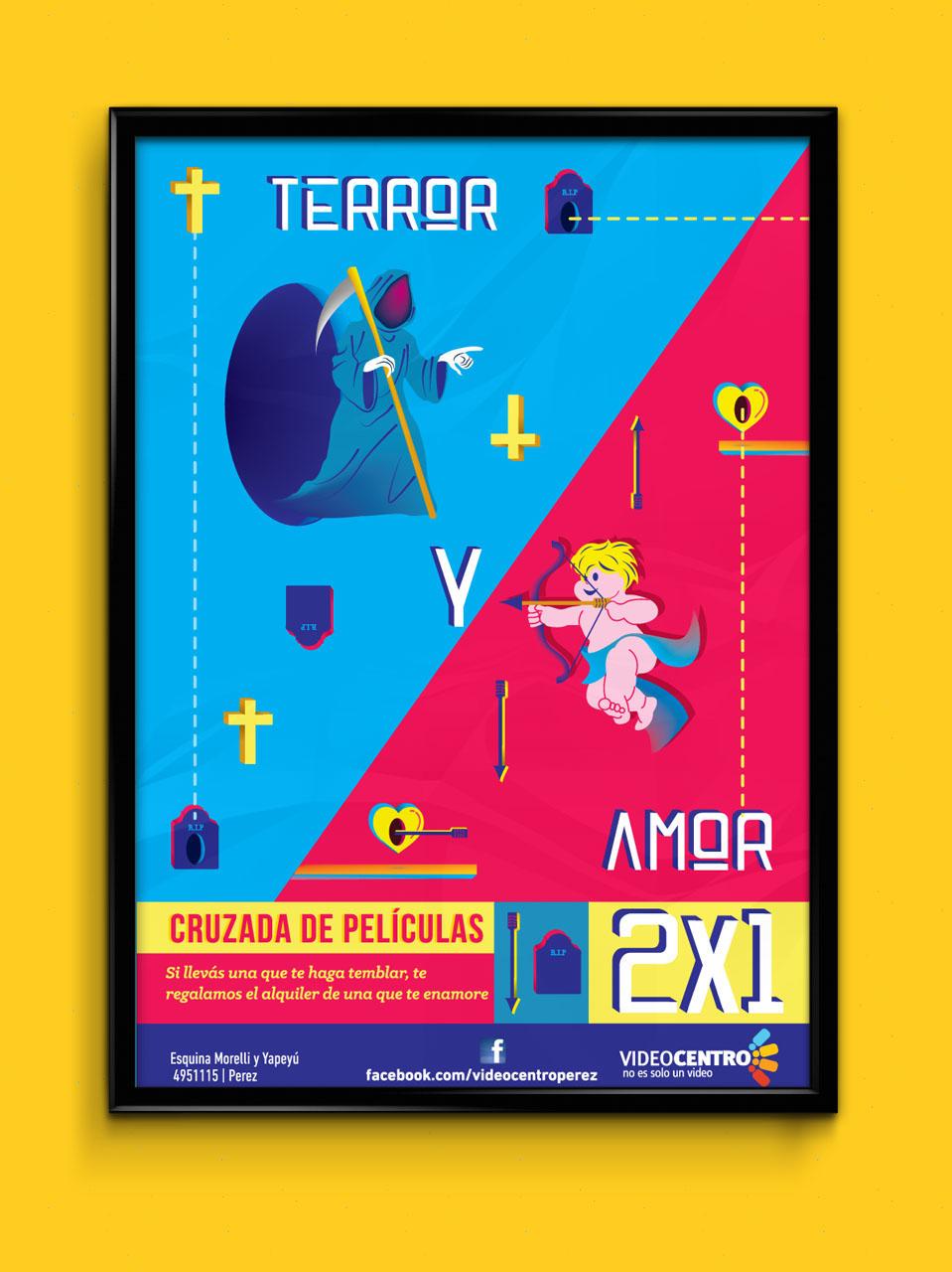 poster cine vector