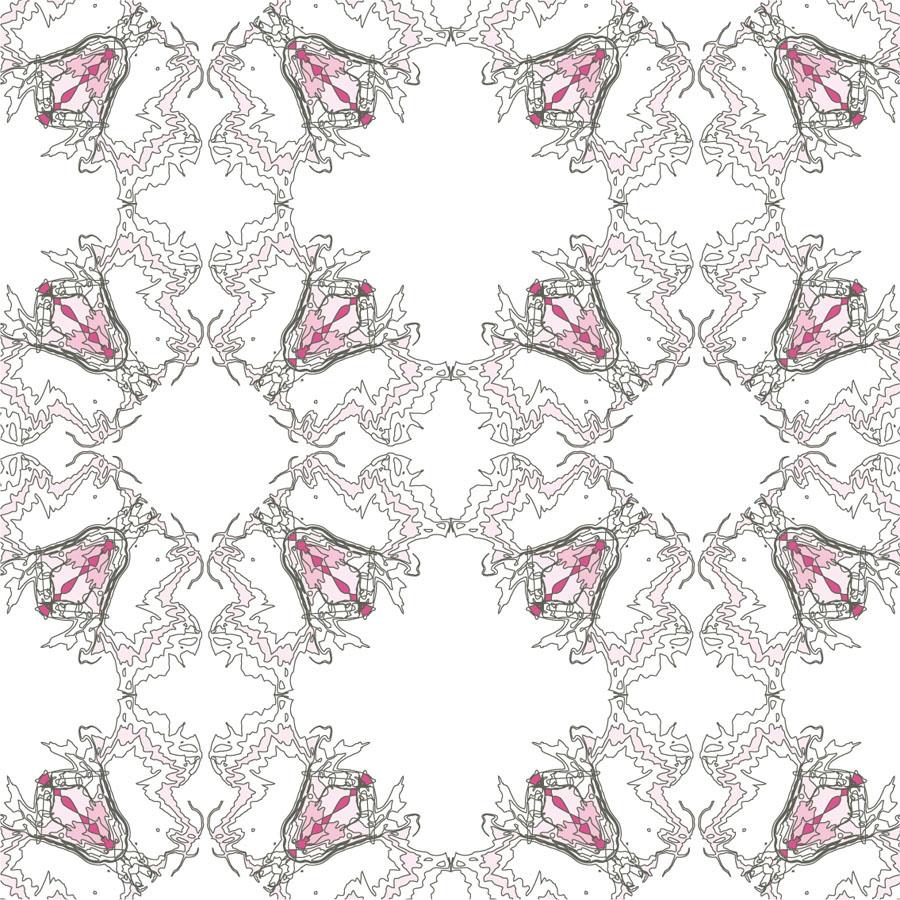 spring pattern textile floral butterflies