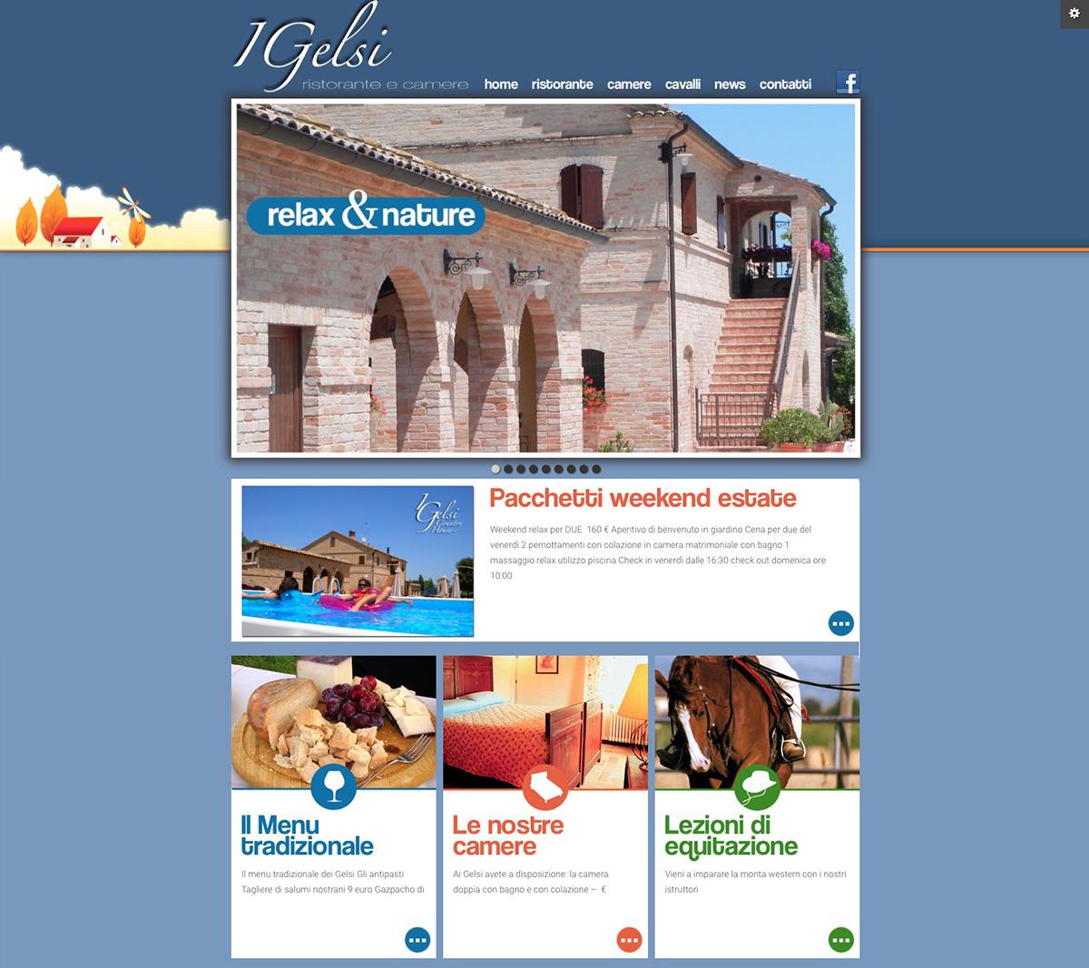 sito web Responsive wordpress agriturismo ristorante