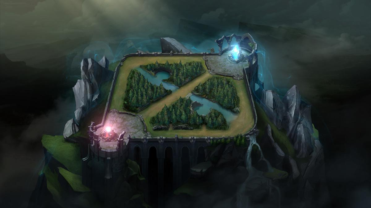 League of Legends Summoner\'s Rift Map on Behance